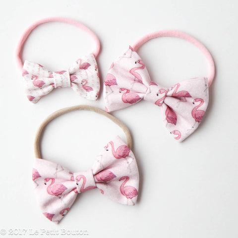"HS17 EXCLUSIVE ""Erol"" Large Linen Bow Nylon Headband"