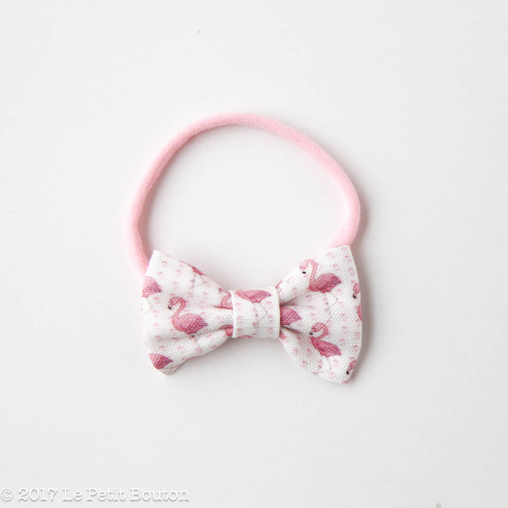 "HS17 EXCLUSIVE ""Erol"" Small Linen Bow Nylon Headband - Le Petit Bouton"