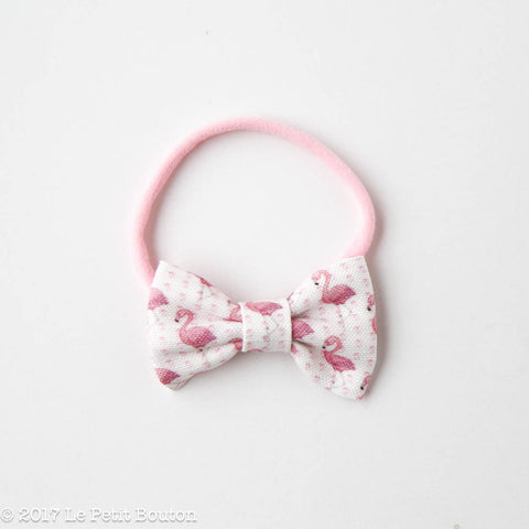"HS17 EXCLUSIVE ""Erol"" Small Linen Bow Nylon Headband"