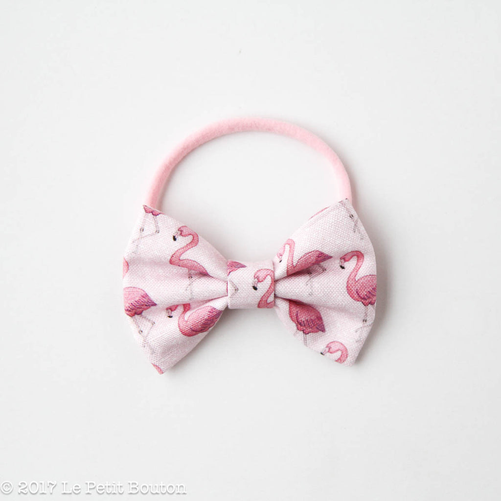 "HS17 EXCLUSIVE ""Erol"" Large Linen Bow Nylon Headband - Le Petit Bouton"