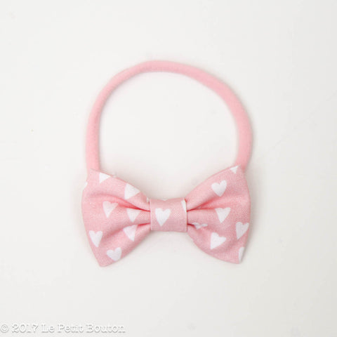 HS17 Valentines Small Bow Nylon Headband