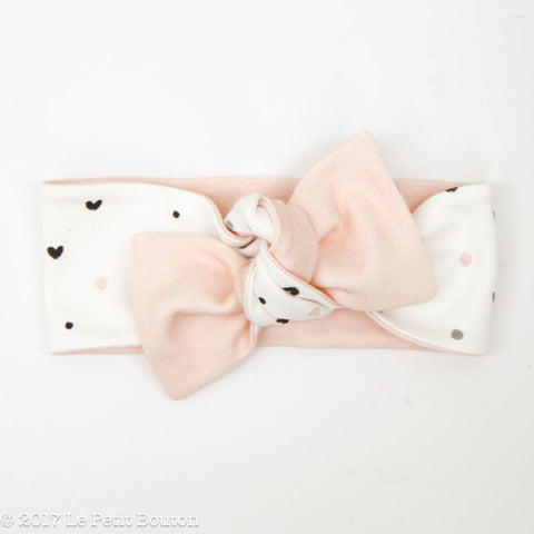 HS17 Valentines Reversible Bow Knot Headband