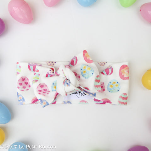 easter sale... organic cotton bow knot headband... LAST ONE