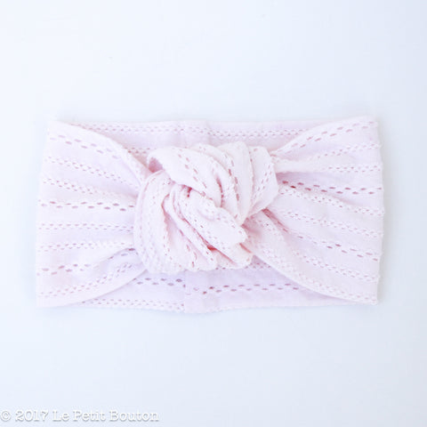A17 Boho Pink Knotted Turban Headband