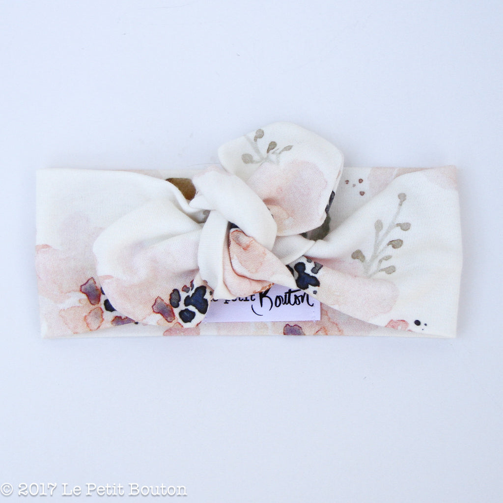 A17 Organic Top Knot Headband - Watercolor Whimsy