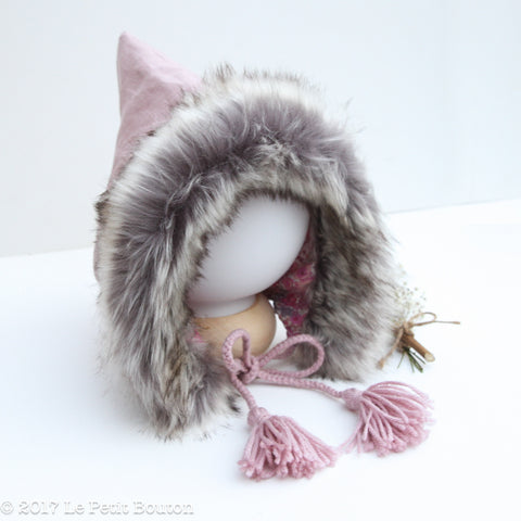 Autumn18 Pixie Hood- Dusty Pink