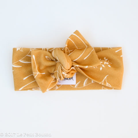 Winter 17 Bow Knot Organic Headband - Saffron