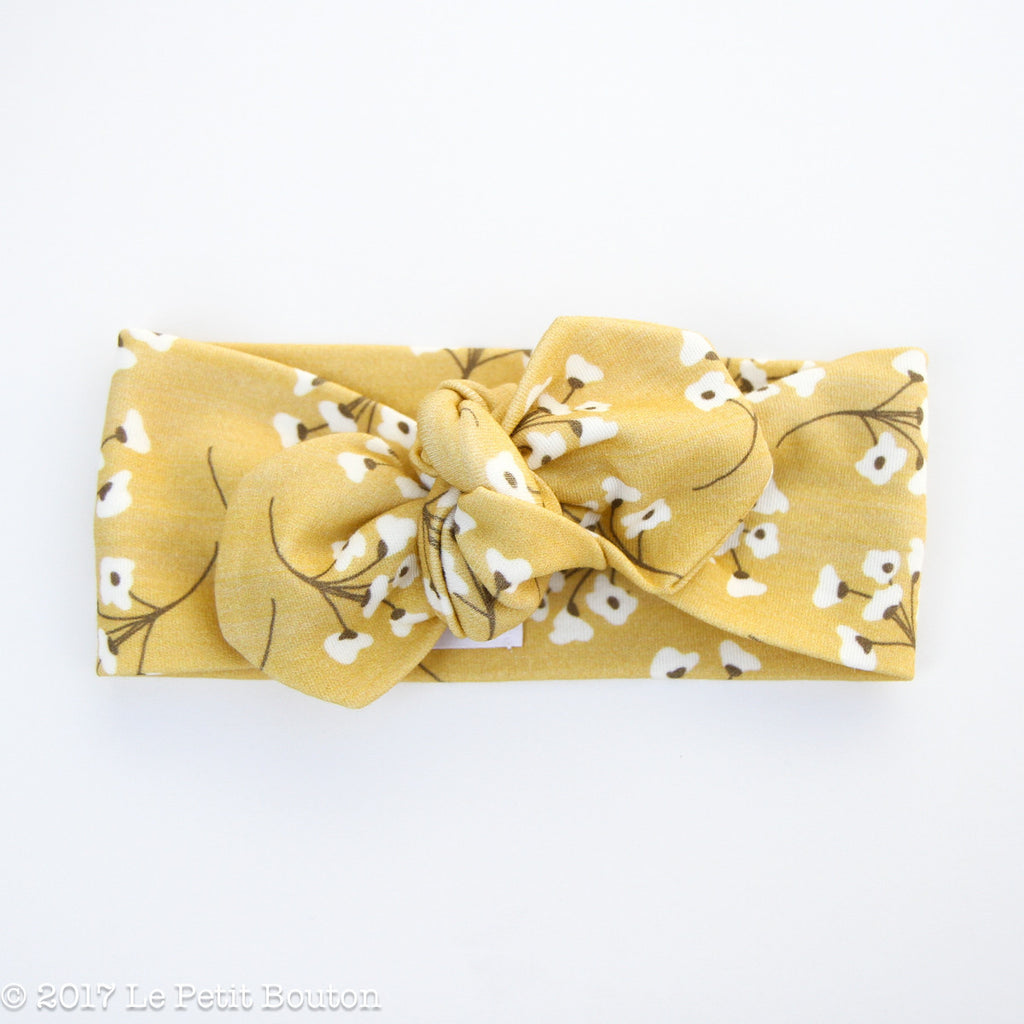 Winter 17 Top Knot Organic Headband - Pretty Mustard