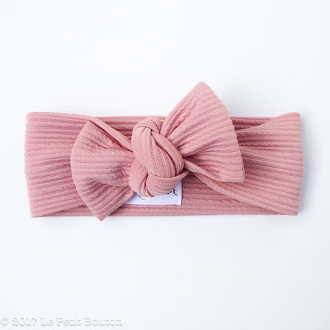 Winter 17 Bow Knot Headband - Textured Musk
