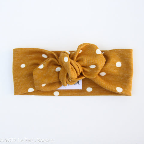 Winter 17 Top Knot Headband - Mustard Spot - LAST ONE