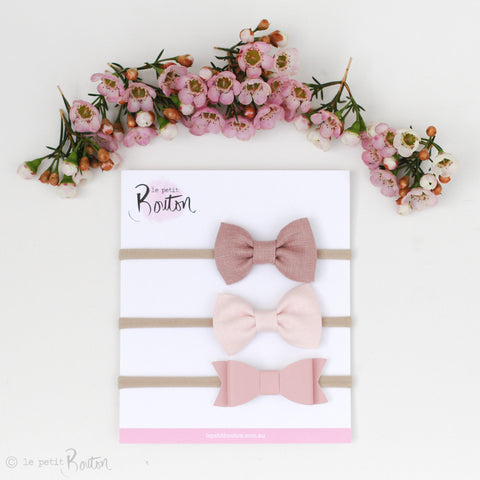 '17 3 Headband set - Pretty In Pink