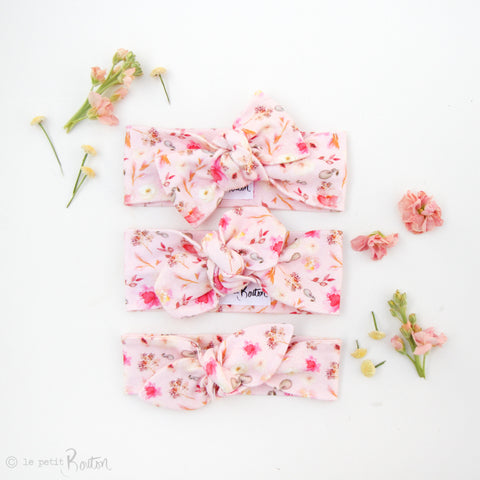 Spring17 Organic Cotton Bow Knot Headband - Wildflower Pink