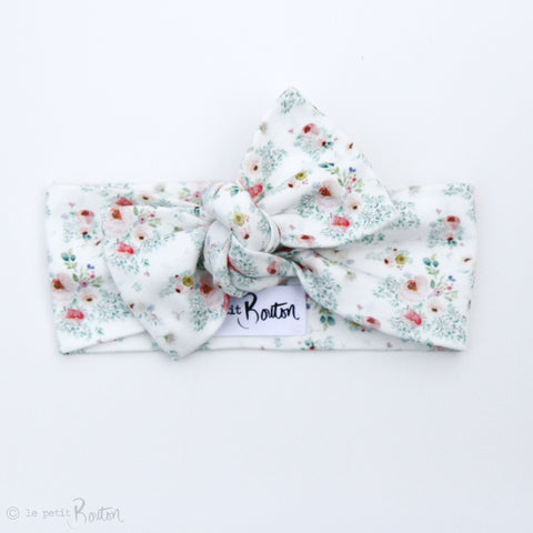 Spring17 Organic Bow Knot Headband- Cottage Floral