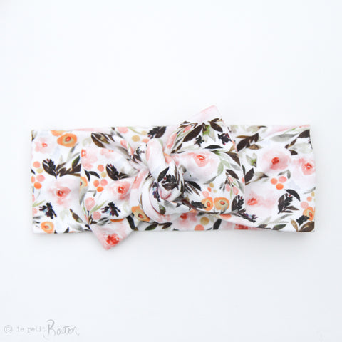 Spring17 Organic Bow Knot Headband - Country Floral