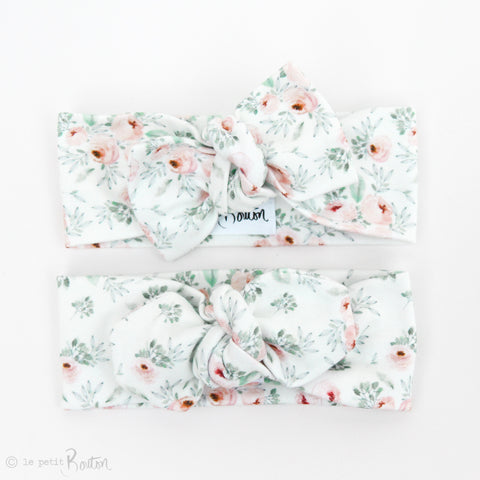 Spring/Summer17 Organic Cotton Bow Knot Headband - Frosted Mint
