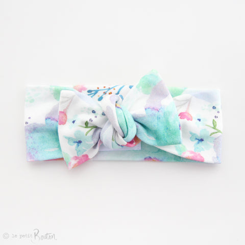 Spring/Summer17 Organic Cotton Bow Knot Headband - Watercolor Crush