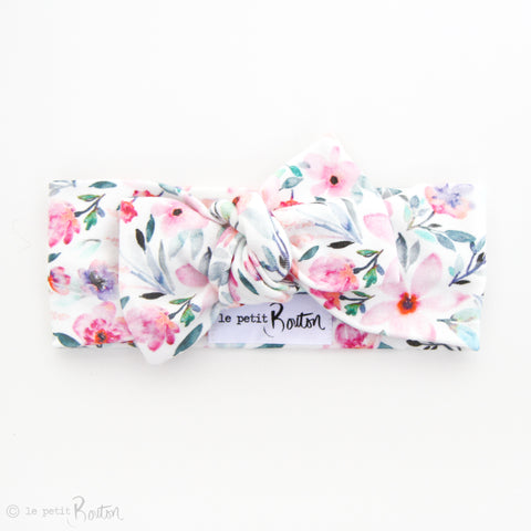 Organic Cotton Bow Knot Headband - Spring Bloom