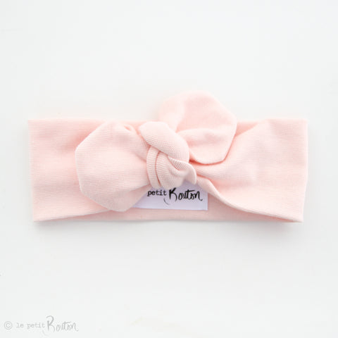 Spring/Summer17 Organic Cotton Ribbed Top Knot Headband- Blush