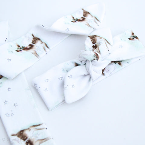 Christmas Exclusive Slim Top Knot Headband - Angel Fawn