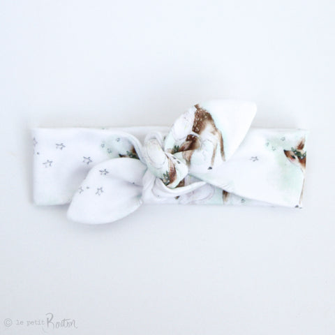 Christmas Exclusive Slim Top Knot Headband - I Love You Deer