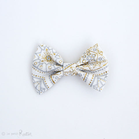 Christmas Large Shimmer Bow Hair Clip - Twinkle Twinkle