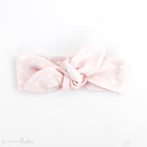 Newborn Organic Cotton Top Knot Headband - Fairy Floss