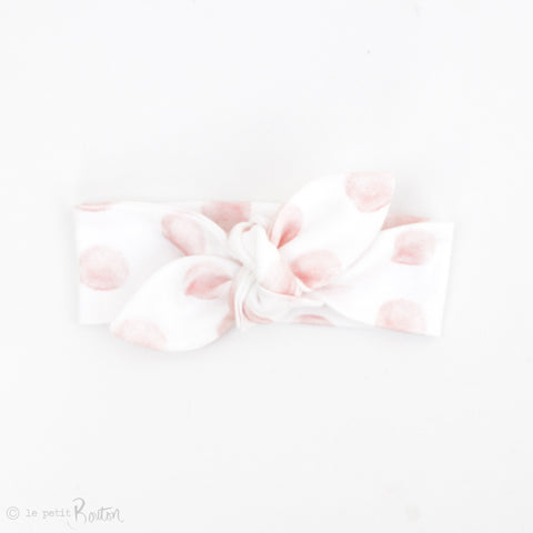Newborn Organic Cotton Top Knot Headband - Exclusive Pink Marshmellow