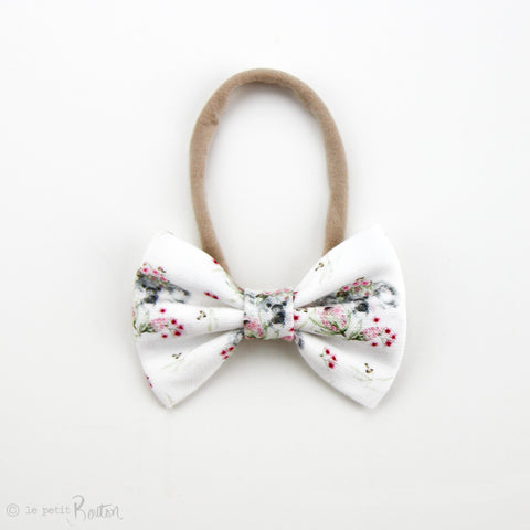 Australiana EXCLUSIVE  Large Linen Bow Headband - Flower Crown Koalas