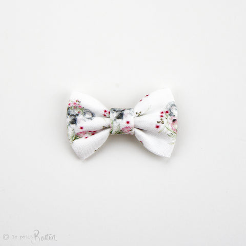 Australiana EXCLUSIVE Small Linen Bow Hairclip - Flower Crown Koalas
