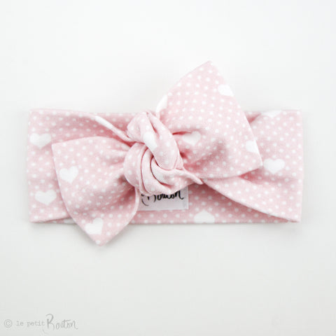 Valentines Organic Cotton Bow Knot Headband - All The Hearts