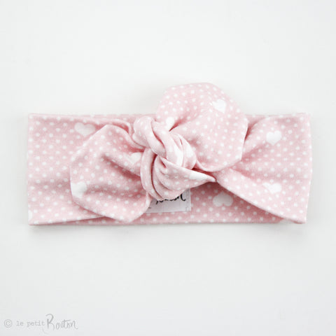 Valentines Organic Cotton Top Knot Headband - All The Hearts
