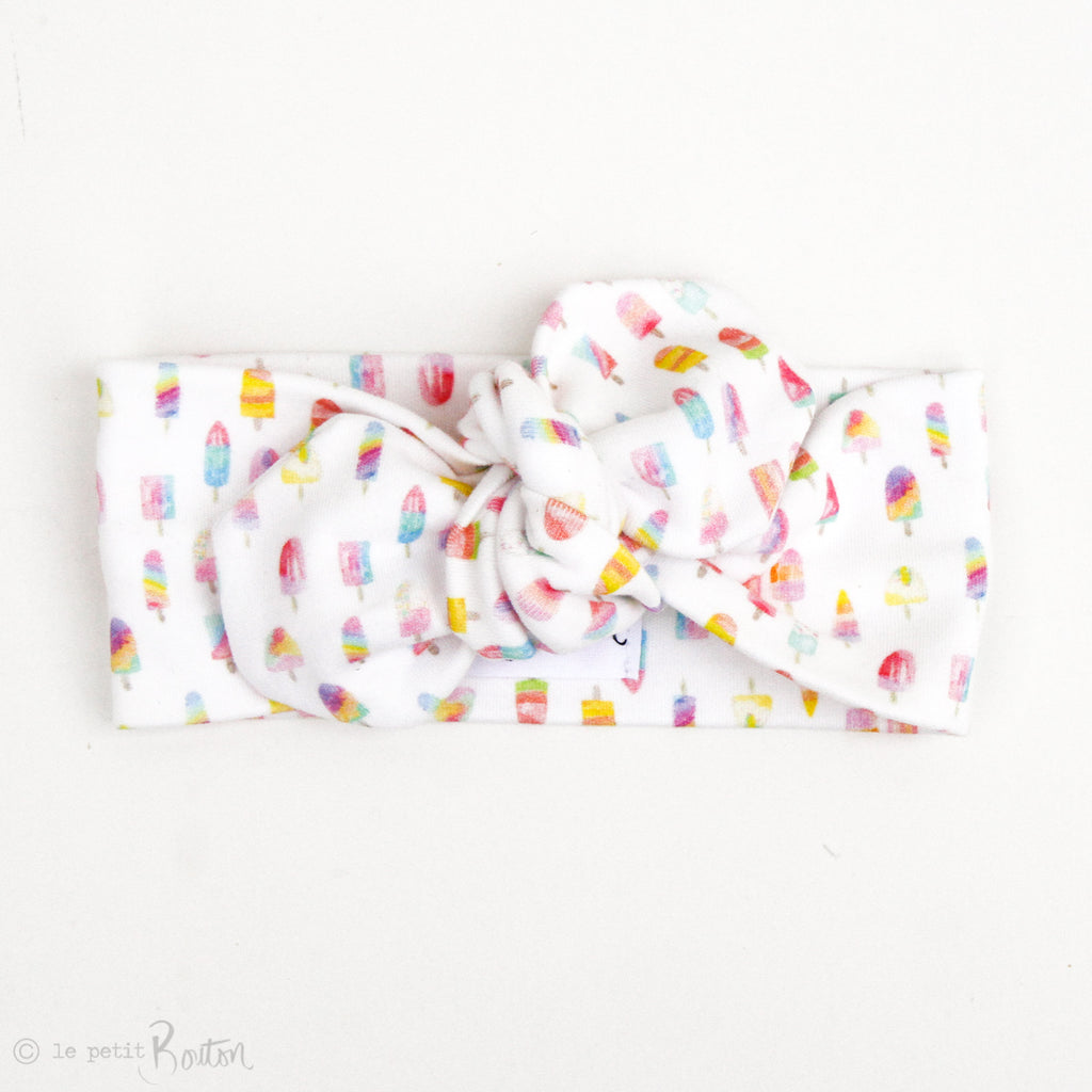 LTBL Organic Cotton Top Knot Headband - Paddle Pop