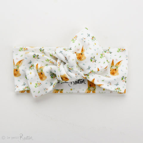 Easter Organic Cotton Bow Knot Headband - Some Bunny Loves You