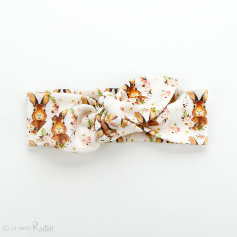 Easter Organic Cotton Slim Top Knot Headband