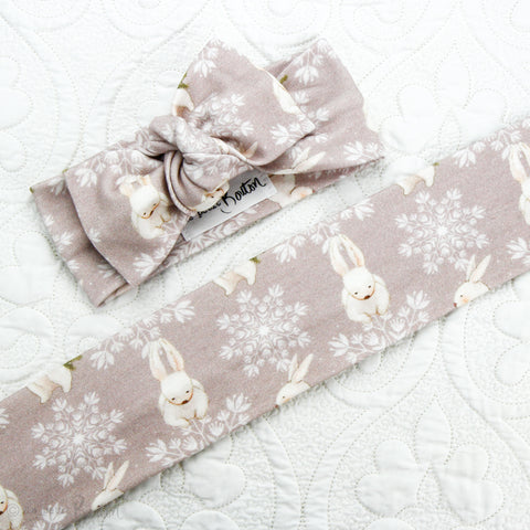 Easter Organic Cotton Bow  Knot Headband