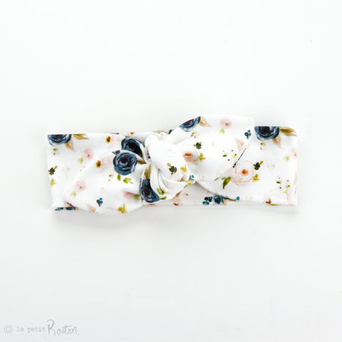 Newborn Organic Cotton Top Knot Headband - Autumn Love