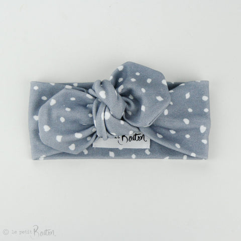Autumn18 Organic Cotton Top Knot Headband - Blue Hues