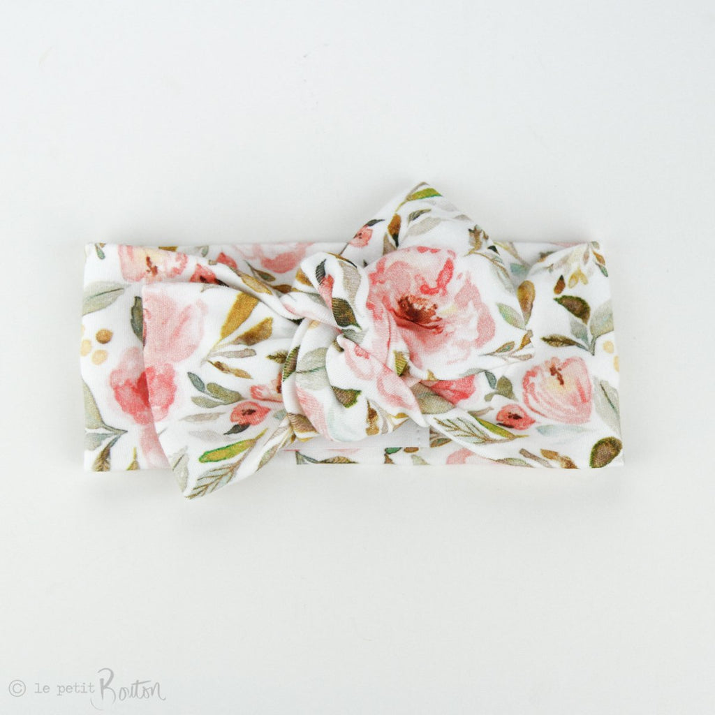 Organic Cotton Bow Knot Headband - Autumn Crush - COMING BACK SOON