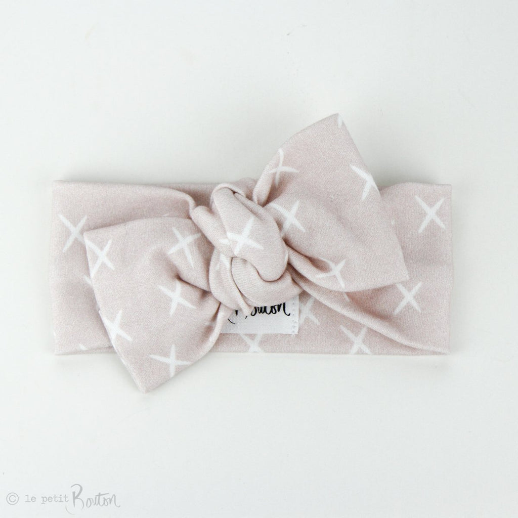 Autumn18 Organic Cotton Bow Knot Headband - Soft Kisses