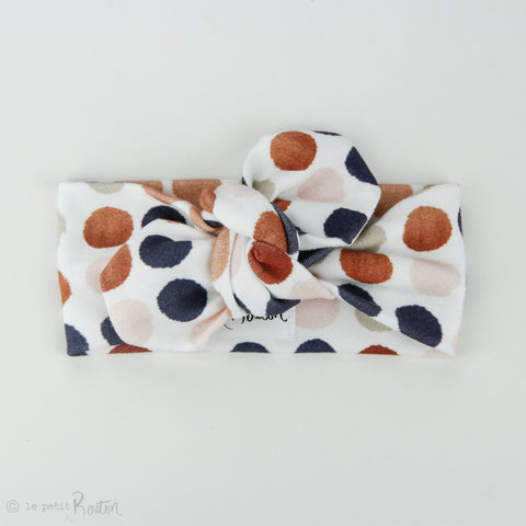 Autumn18 Organic Cotton Top Knot Headband -  Autumn Dots