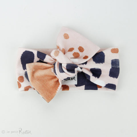 Organic Cotton Bow Knot Headband - Autumn Contemporary