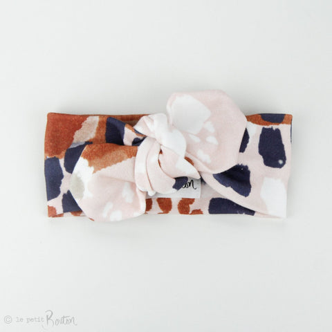 Organic Cotton Top Knot Headband - Autumn Contemporary