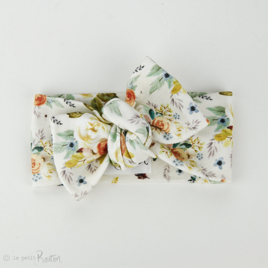 Autumn18 Organic Cotton Bow Knot Headband