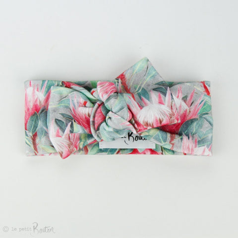 Australiana Organic Cotton Bow Knot Headband - Protea
