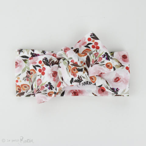 Autumn18 Organic Bow Knot Headband - Limited Floral