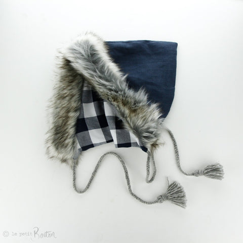 Autumn18 Pixie Hood- Washed Navy