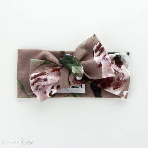 Autumn18 Ponte Bow Knot Headband - Dusty Rose