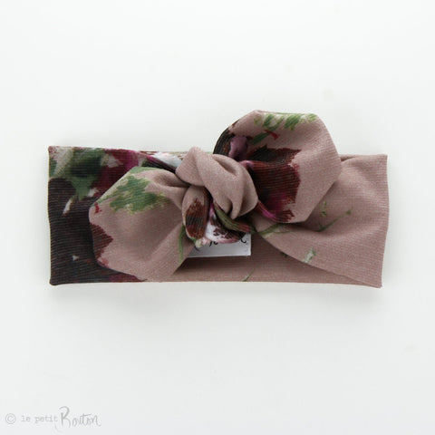 Ponte Top Knot Headband - Dusty Rose