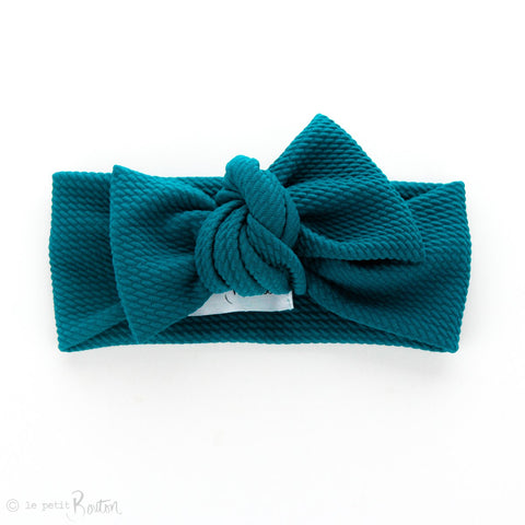 Autumn18 Textured Bow Knot Headband - Peacock