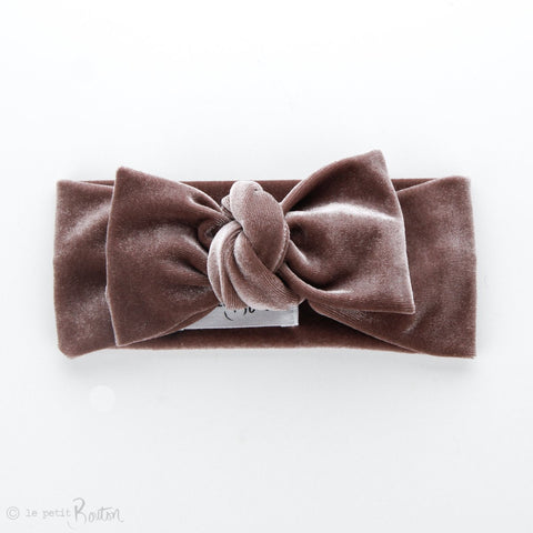 Autumn18 Luxe Velvet Bow Knot - Dusty Rose